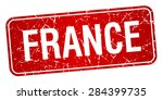 france red stamp isolated on... | Shutterstock .eps vector #284399735