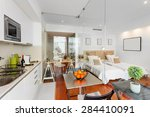 modern single bedroom house | Shutterstock . vector #284410091