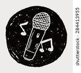 doodle microphone | Shutterstock . vector #284413955
