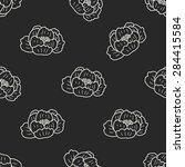flower doodle seamless pattern... | Shutterstock . vector #284415584