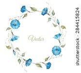 Watercolor Floral Wreath ...
