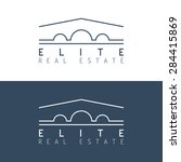 real estate logo template.... | Shutterstock .eps vector #284415869