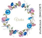 Watercolor Floral Wreath ...