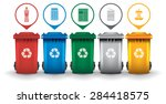 Colorful Recycle Trash Bins...