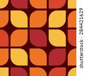 seamless geometric vintage...   Shutterstock .eps vector #284421629