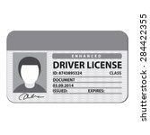 driver license | Shutterstock .eps vector #284422355