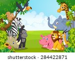 Stock vector cartoon collection animal in the jungle 284422871