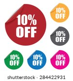 ten percent off stickers | Shutterstock .eps vector #284422931