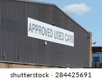 approved used cars sign | Shutterstock . vector #284425691