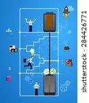 illustration of teamwork ... | Shutterstock . vector #284426771