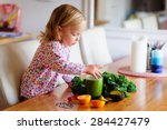 Cute Little Girl With Healthy...