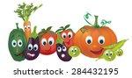cartoon vegetables.... | Shutterstock .eps vector #284432195