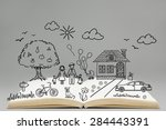 happy family concept. family... | Shutterstock . vector #284443391