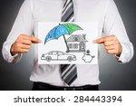 life insurance concept.... | Shutterstock . vector #284443394