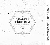vintage frame for luxury logos  ... | Shutterstock .eps vector #284445674