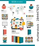 book and reading infographics.... | Shutterstock .eps vector #284447825