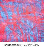 Abstract Wax Crayon And Ink...