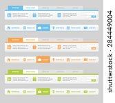 flat navigation bar with... | Shutterstock .eps vector #284449004