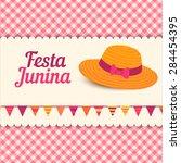 festa junina illustration  ... | Shutterstock .eps vector #284454395