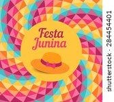 festa junina illustration  ... | Shutterstock .eps vector #284454401