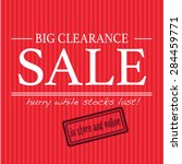 big clearance sale sign  | Shutterstock .eps vector #284459771