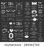 set of calligraphic elements... | Shutterstock .eps vector #284462765