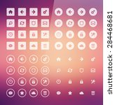 flat web icons | Shutterstock .eps vector #284468681
