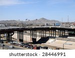 santa fe bridge across the rio... | Shutterstock . vector #28446991