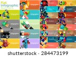 mega collection of vector flat... | Shutterstock .eps vector #284473199