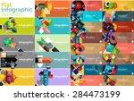 mega collection of vector flat...   Shutterstock .eps vector #284473199