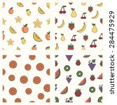 set of fruits patterns | Shutterstock .eps vector #284475929