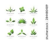 eco green logos vector set | Shutterstock .eps vector #284480489