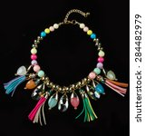 color plastic  necklace | Shutterstock . vector #284482979