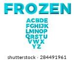frozen abc | Shutterstock .eps vector #284491961