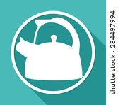 icon tea maker on white circle... | Shutterstock .eps vector #284497994