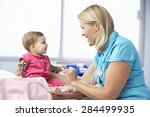 doctor in surgery examining...   Shutterstock . vector #284499935