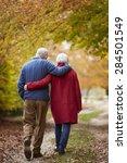 Rear View Of Senior Couple...