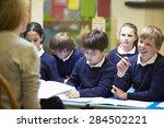 teacher teaching lesson to... | Shutterstock . vector #284502221