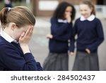 female elementary school pupils ... | Shutterstock . vector #284502437