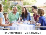 multi generation family...   Shutterstock . vector #284502827