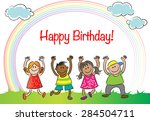 happy birthday | Shutterstock .eps vector #284504711