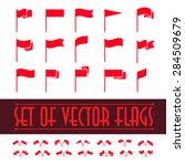 vector set of different flag... | Shutterstock .eps vector #284509679