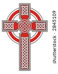 celtic cross with detailed... | Shutterstock .eps vector #2845109