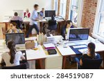 wide angle view of busy design... | Shutterstock . vector #284519087