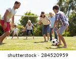 multi generation playing... | Shutterstock . vector #284520959