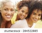 portrait of grandmother with... | Shutterstock . vector #284522885