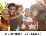portrait of multi generation... | Shutterstock . vector #284522894