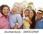 multi generation family having... | Shutterstock . vector #284522969