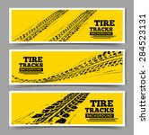 tire tracks background. | Shutterstock .eps vector #284523131