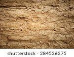 Texture Of Soil Wall Of Home...